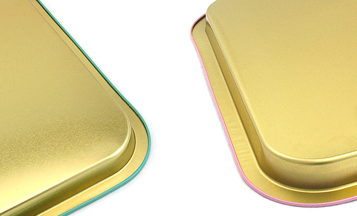 metal rectangular tin tray