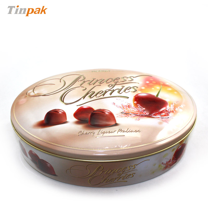 3D embossed chocolate tin