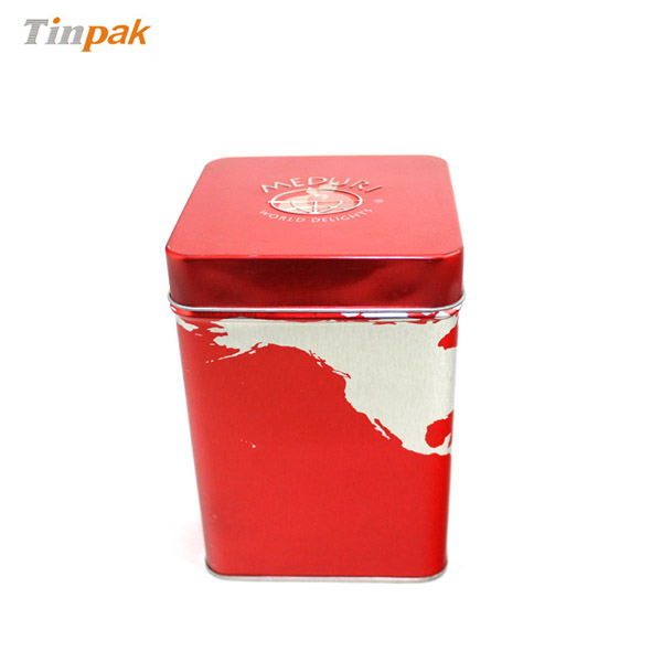 square tin boxes for USA by Tinpak