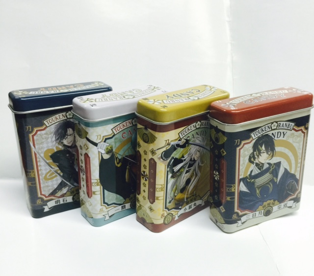 BANDAI candy tin boxes