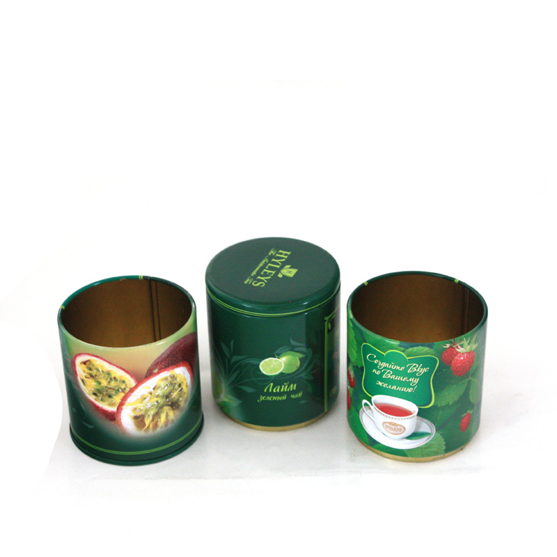 Round Stackable Tea Tin of 3 Tiers