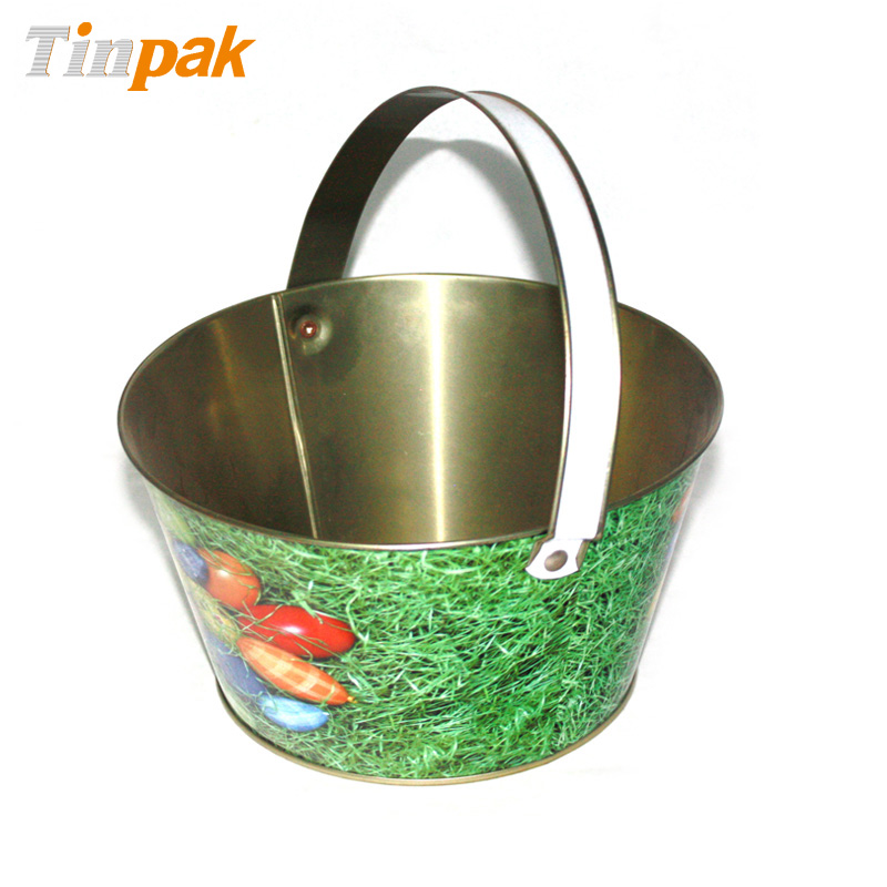 easter tin buckets