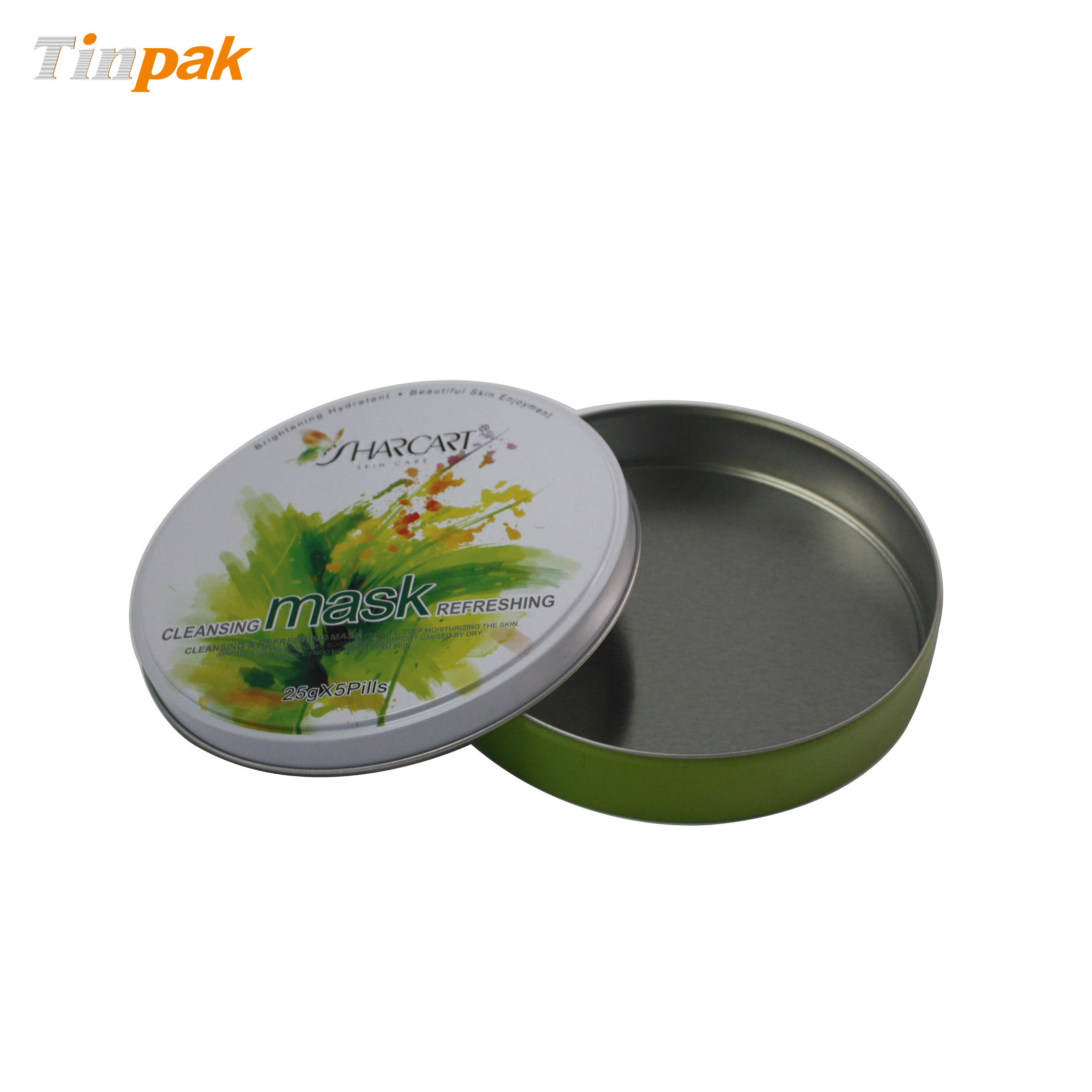 Round cosmetic tins