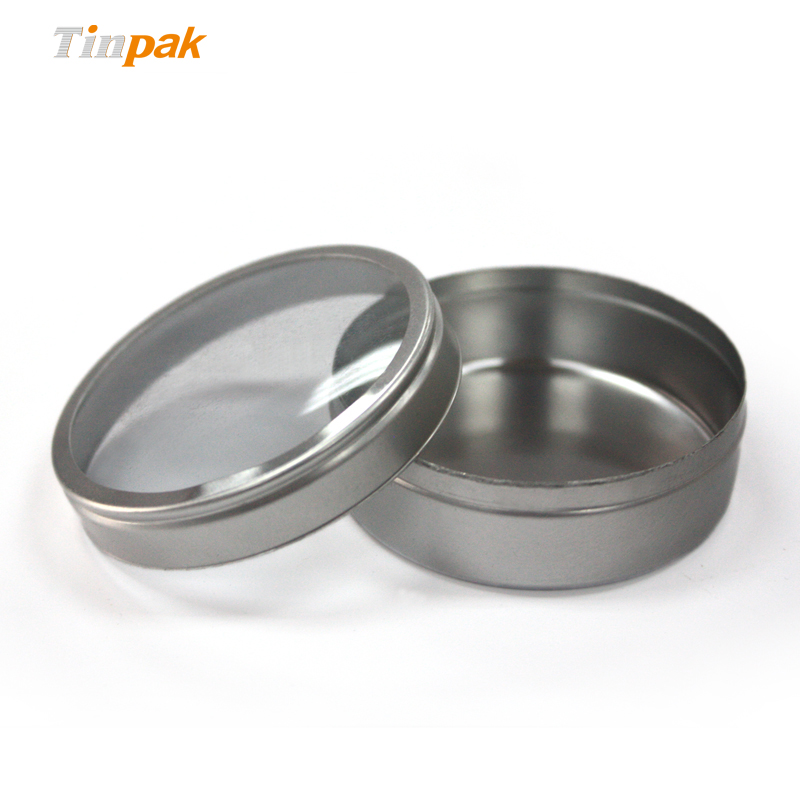 candle tins with clear lid
