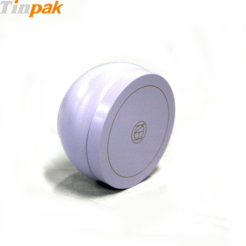 round candle tin containers