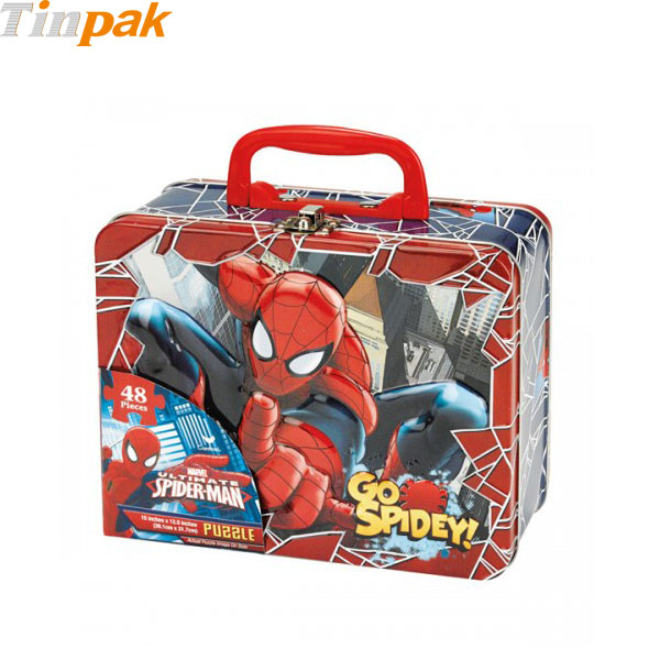 Spider-Man puzzle tins
