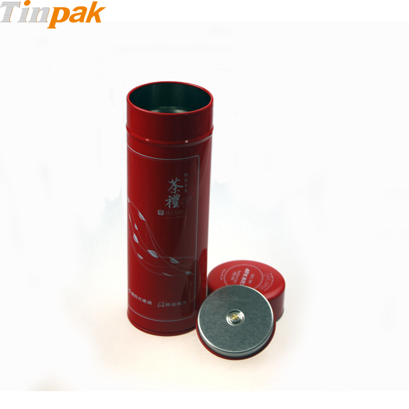 metal cylinder containers with inner lid