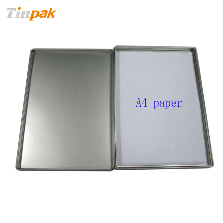 rectangular A4 size document tin