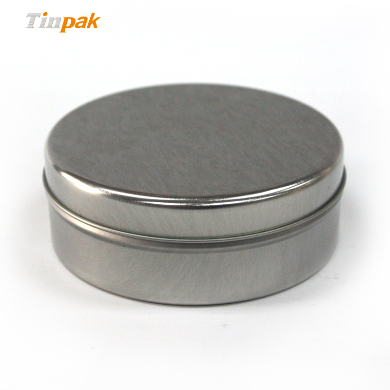 round metal wax containers