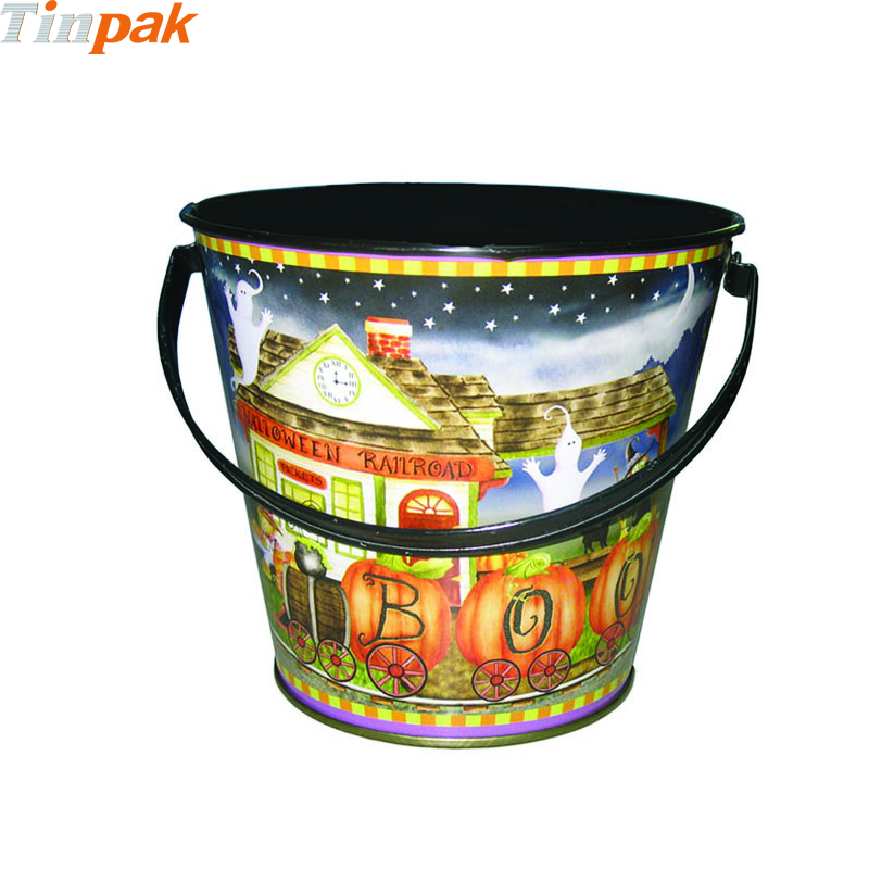 Custom Halloween Tin Buckets