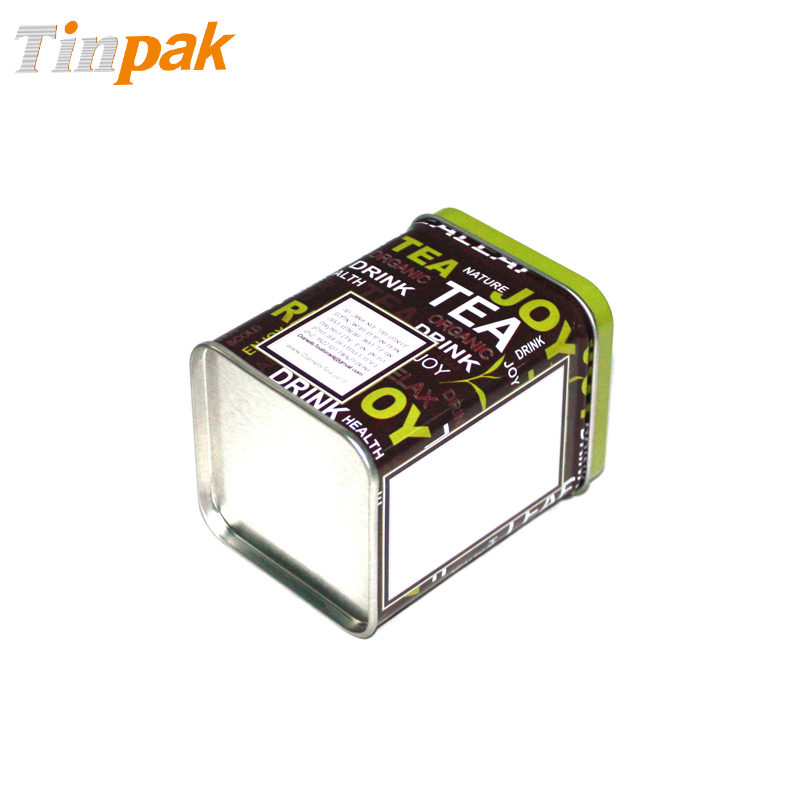 square tea tin containers