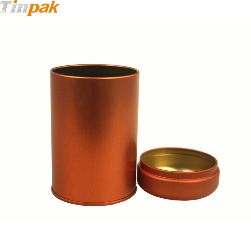 round tea metal cans