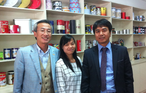 Korean Tin Box buyer visited Tinpak