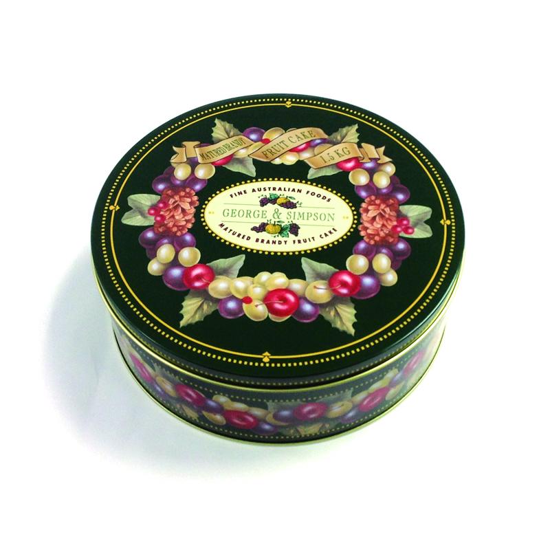 large round tin box