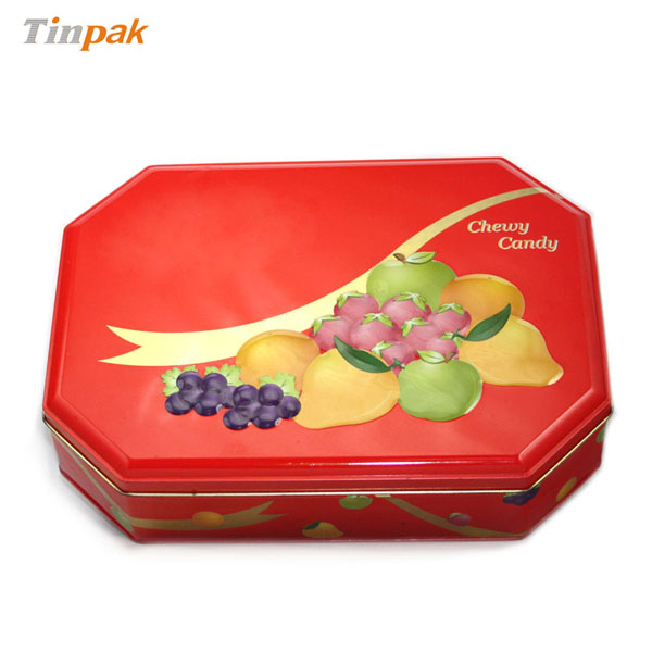 Quality tin box for candy packing