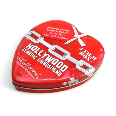 Heart shape custom tin box