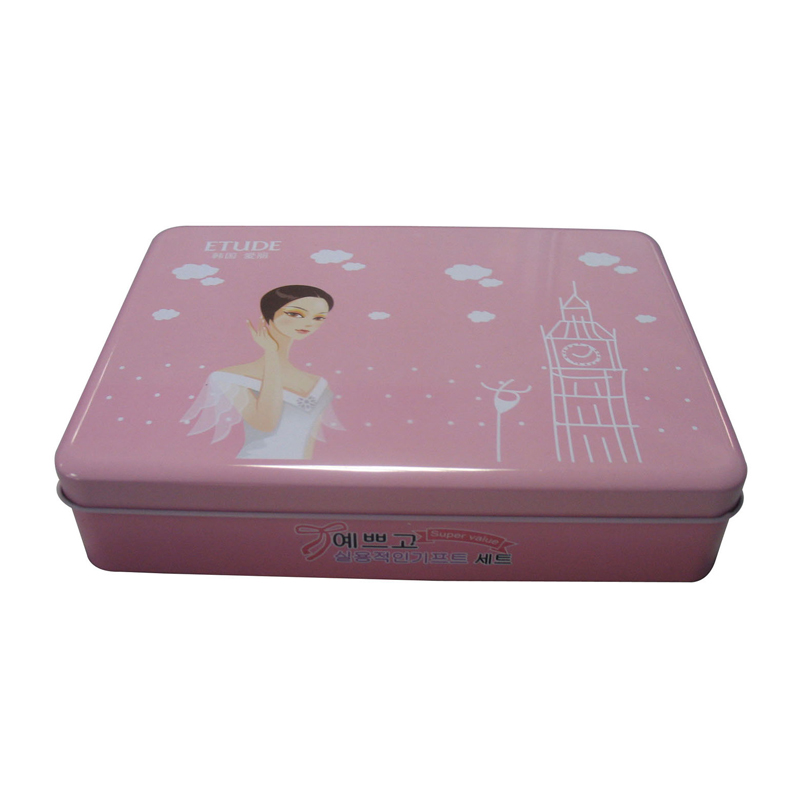 Practical cosmetic tin boxes