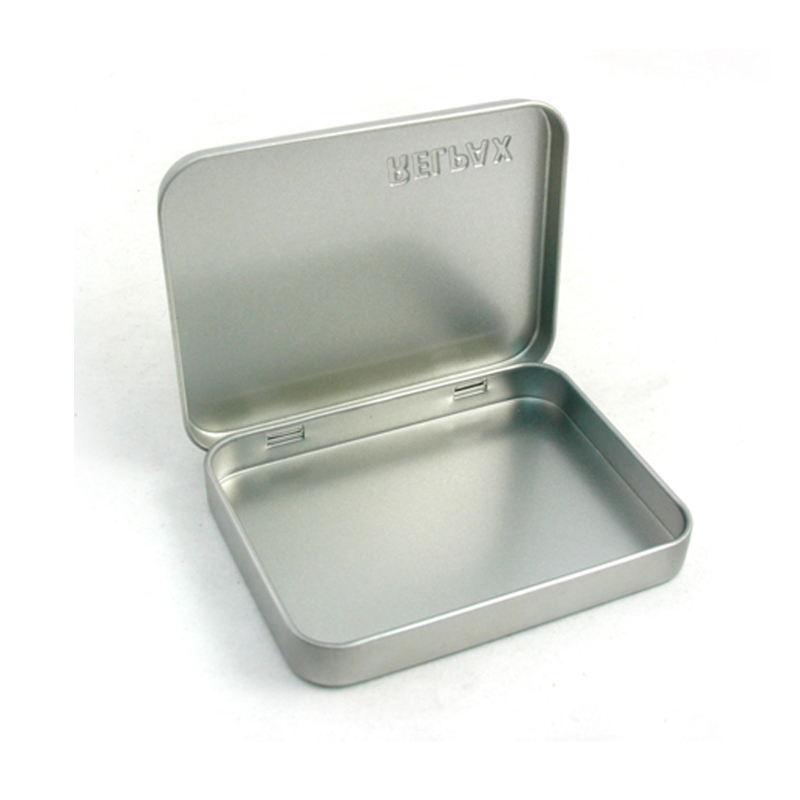 small cards tin case with hinged lid