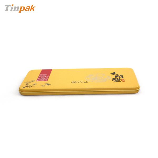 metal custom embossed VIP card tin boxes