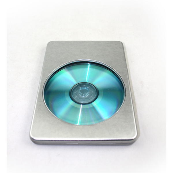 factory direct stock silver metal DVD tin cases