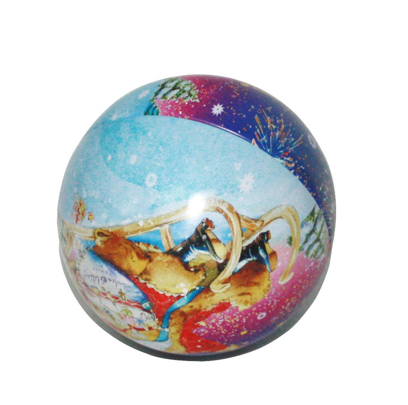 custom metal Christmas ball tin