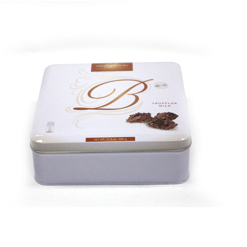 premium metal square chocolate tin box