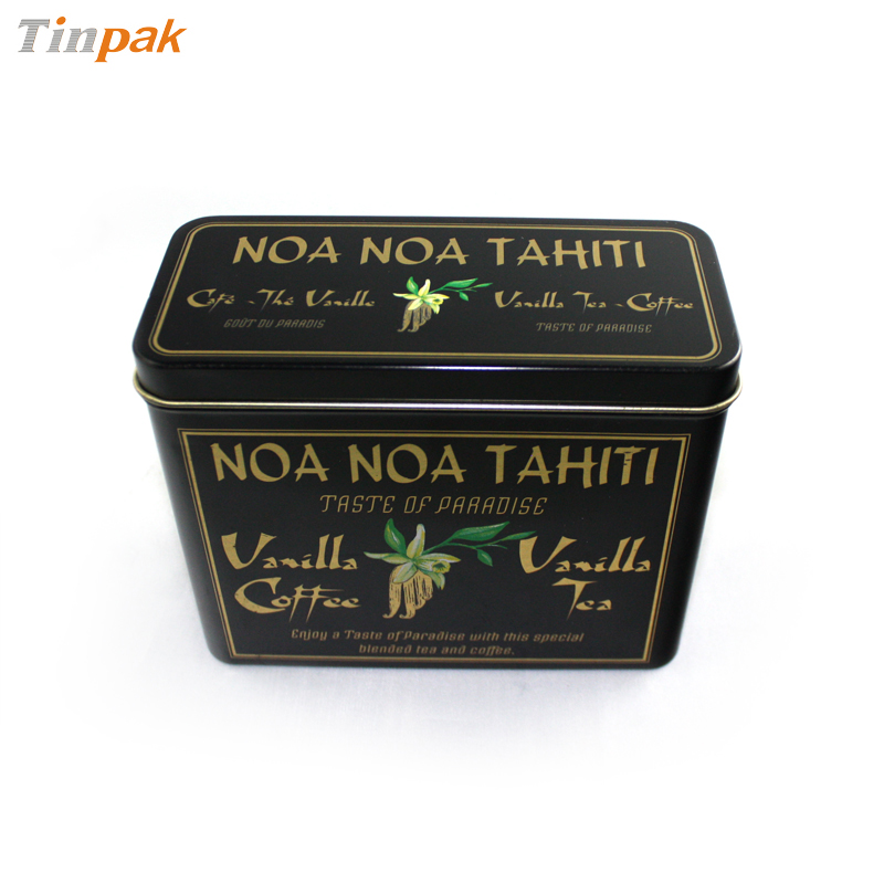 metal rectangular tea canister