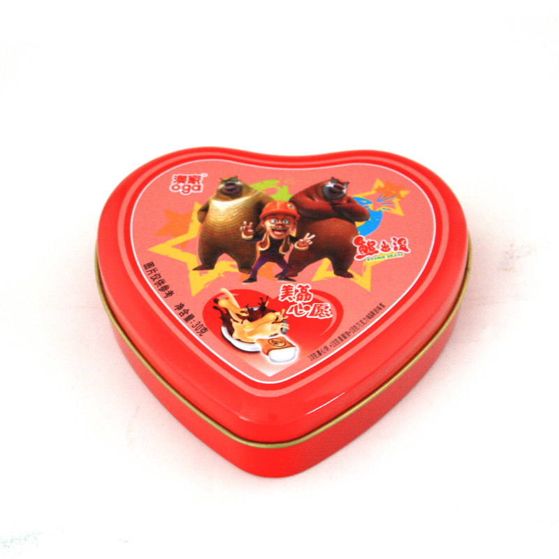 Valentine's heart tin boxes