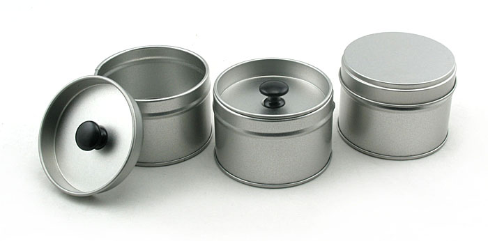Custom round plain stackable tea tin supplier for Small tin containers