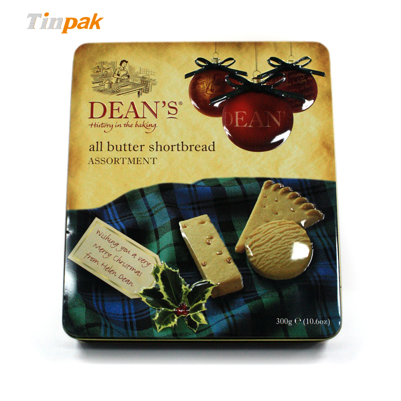 Wholesale Christmas Custom Tin Cookie Boxes Manufacturer