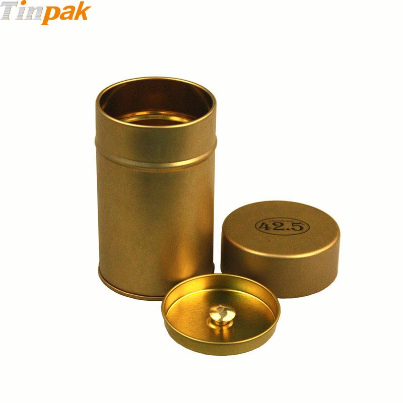 round tea tins storage  sc 1 st  Tin Containers Tinpak & Round Metal Tea Tin Storage with Inner Lid Wholsaler