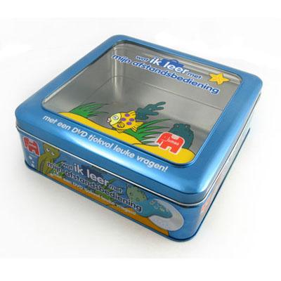 Window game tin box