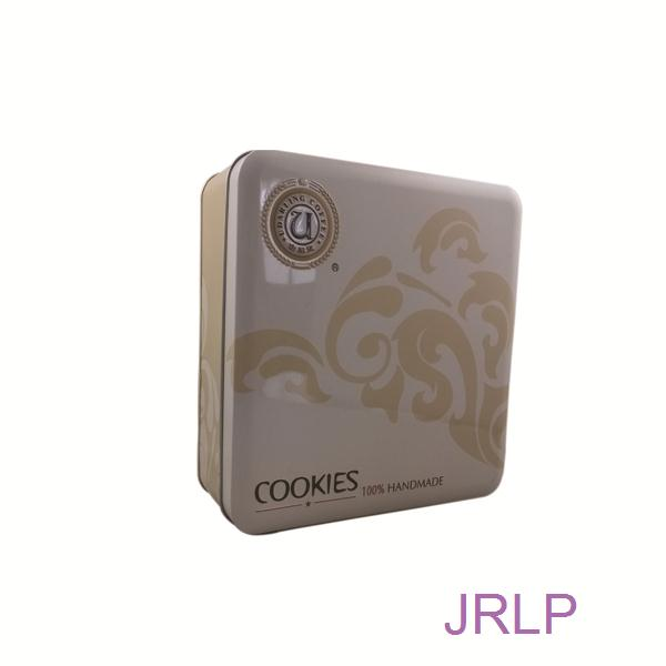 Square cookies tin box