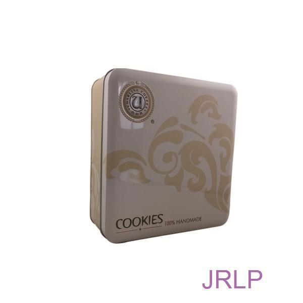 Custom Printed Square Cookies Tin Box