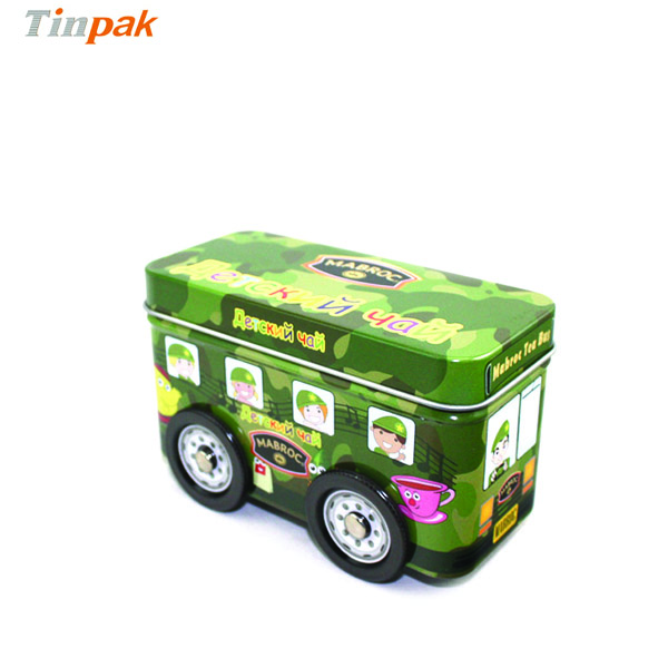 cute car shape tin box for candies wholesale