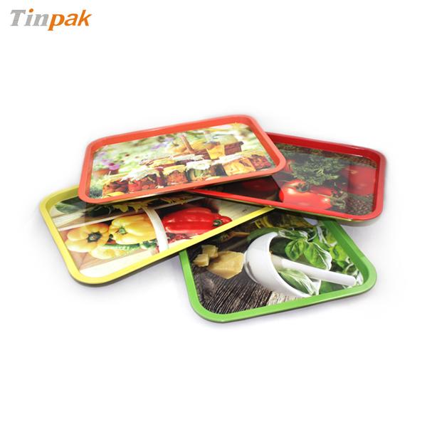 high quality rectangular tin tray
