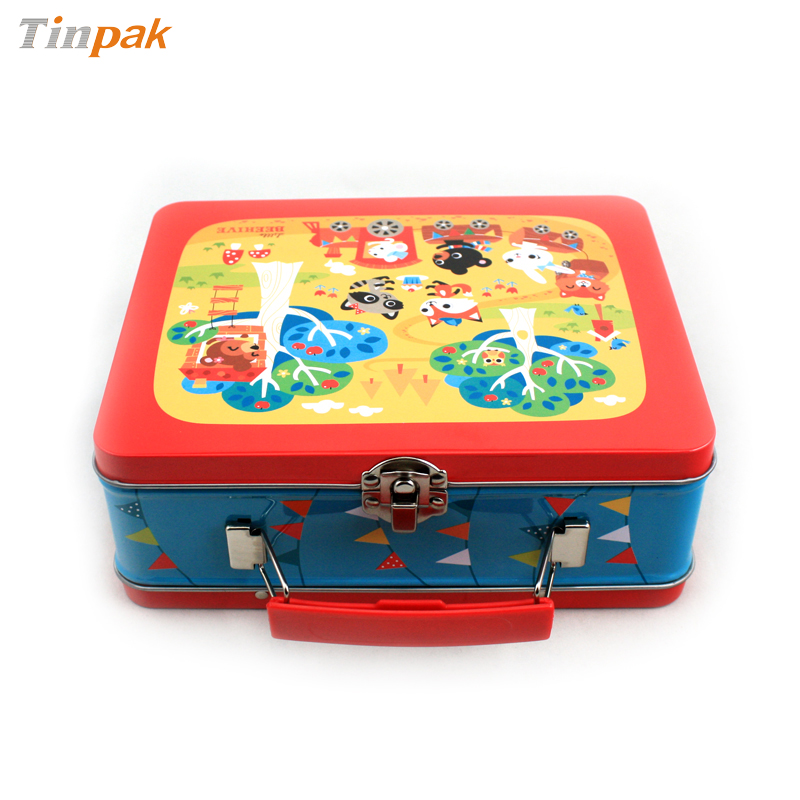 Lunch Tin Box With Handle