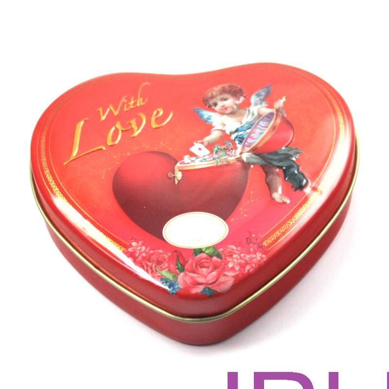 red heart tin for chocolate