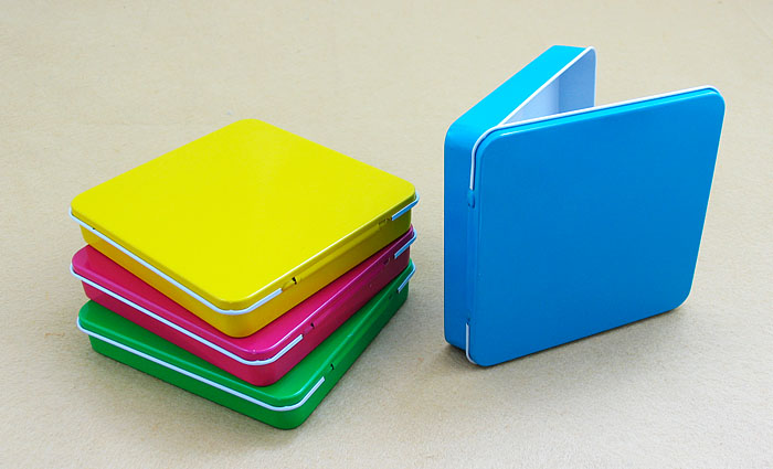 small rectangular tabacco tin box