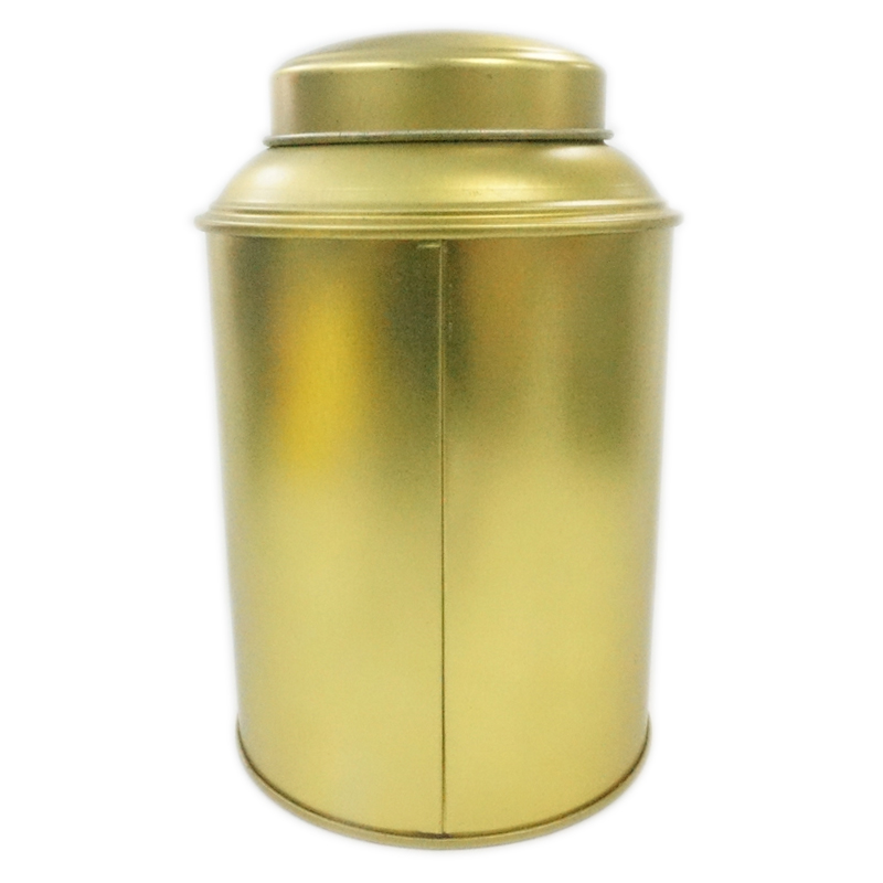 round tea tin box with plastic inner lid