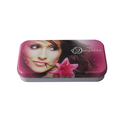 rectangular metal tin box for cosmetic