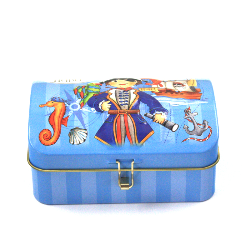 candy tin box with domed lid