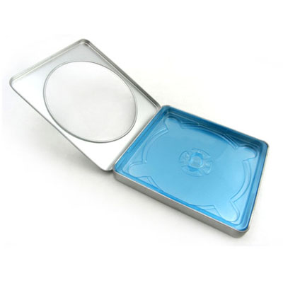 Silver CD Tin with window