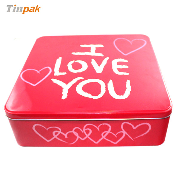 square food tin box