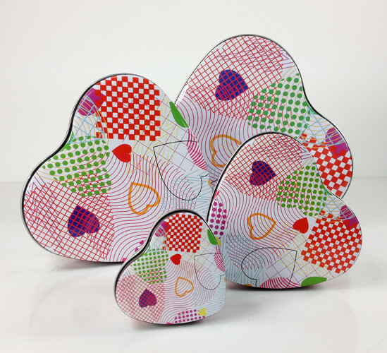 Metal Heart Tin Boxes
