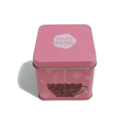 small rose tea tin container