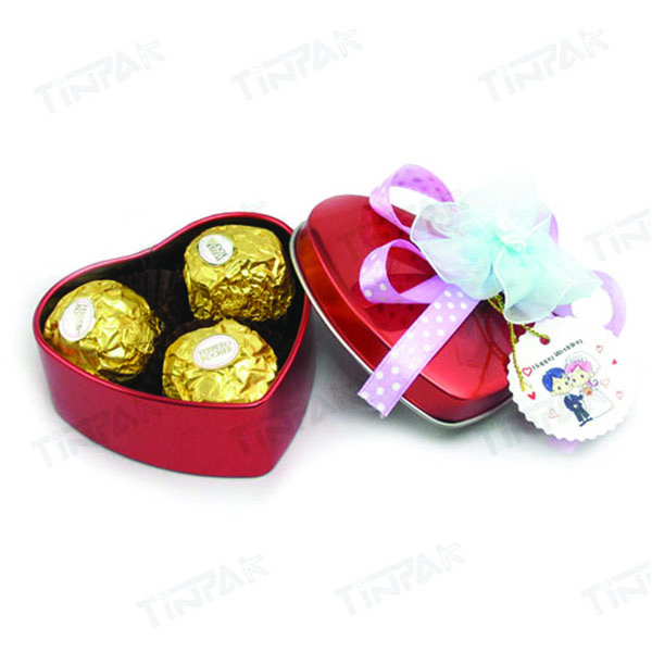 Chocolate heart tin wholesale