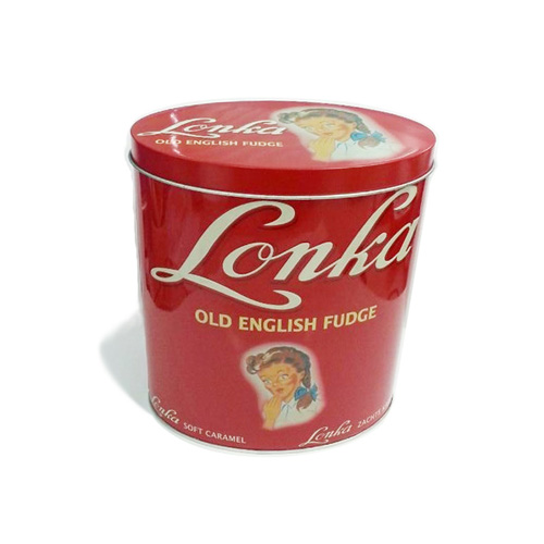 oval shape food tin box