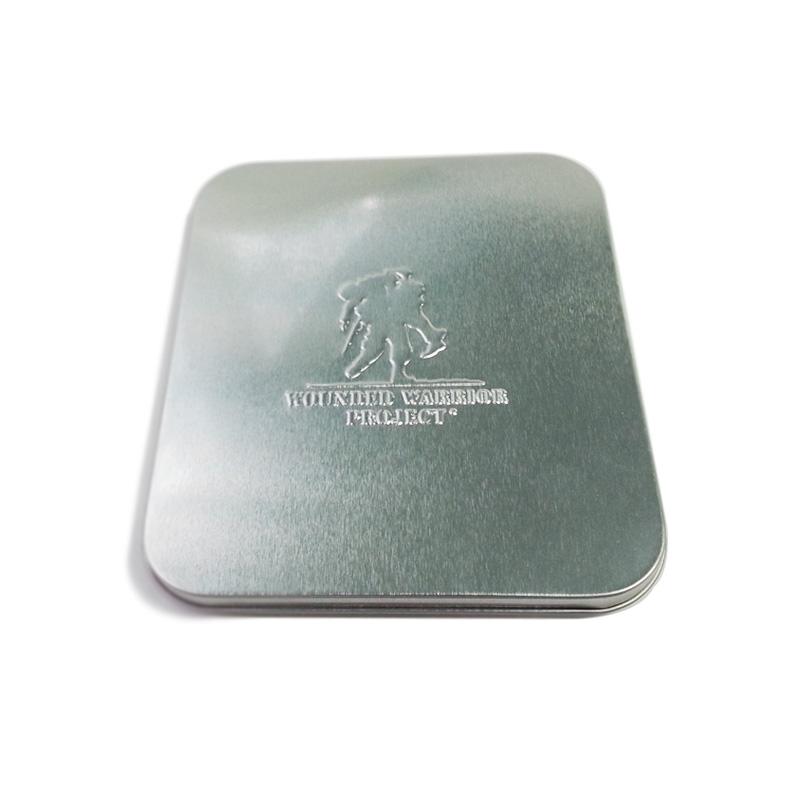 hinged lid CD tin holder