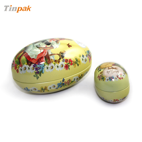 egg-shaped chocolate tin boxes